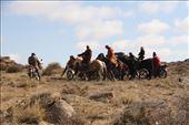 Horsemen depart after the last capture, Ikh Nart Nature Reserve: by vagabondstoo, Views[124]