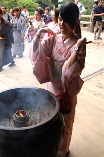Purifying the soul, Kiyomizu-dera, Kyoto