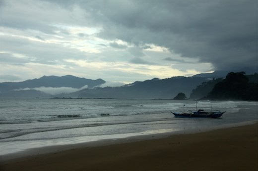 Stormy day at Sabang beach, Palawan