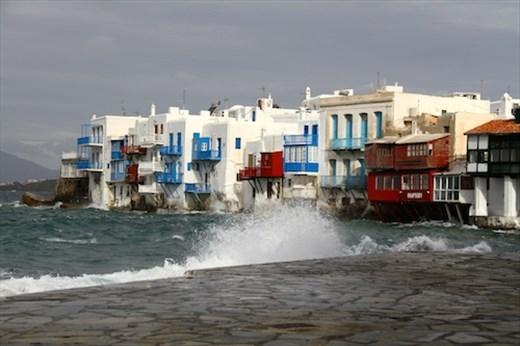Rough sailing, Mykonos