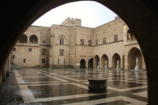 Courtyard, Palace of the Grand Masters, Rhodes