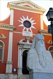 Greek Orthodox church and priest, Corfu: by vagabondstoo, Views[221]