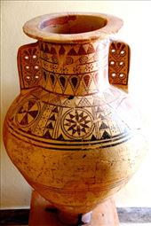 Jar from Akrotiri, Fira Prehistoric Museum: by vagabondstoo, Views[271]