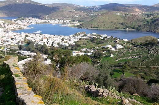 View of Skala from Monastery of St. John the Evangelist, Patmos