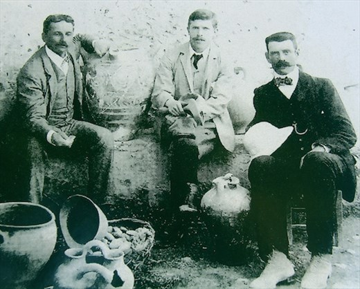 Arthur Evans and mates, excavator of the Palace of Knossos