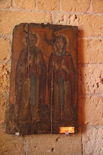 Wooden icon, Byzantine church of Kiti