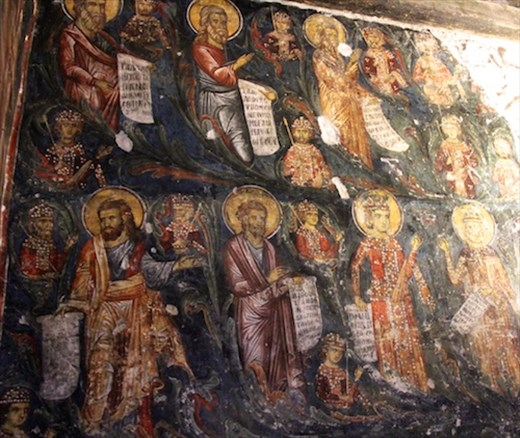 Wall of saints, Timios Stavros Church