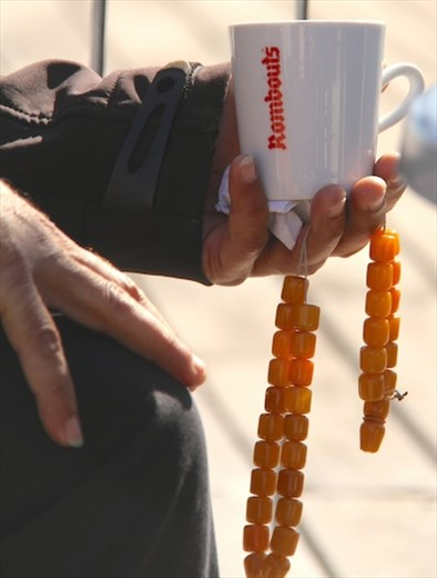 Coffee and worry beads, Pafos