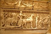 Sarcophagus with Achilles and slain Hero, National Museum, Beirut: by vagabondstoo, Views[118]