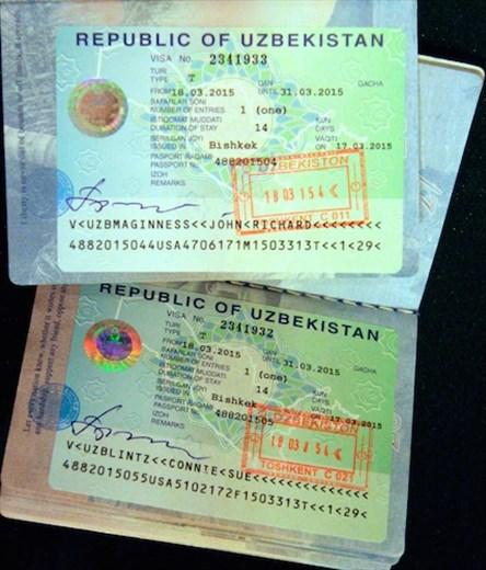 Visas for Uzbekistan, finally