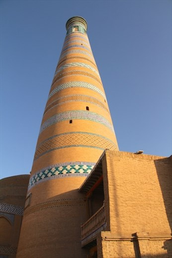 Islam Khodja Minaret, our lodestone in Khiva