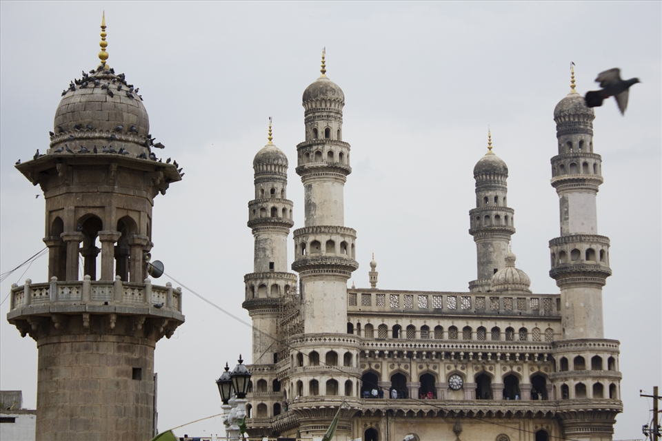 It's Charminar, the monumental heritage of Hyderabad.