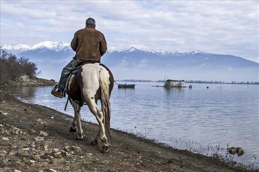 Horse Riding in the west coast of lake Kerkini