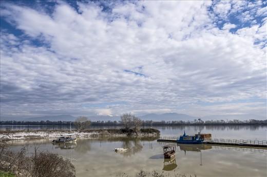 The port of Lithotopos on the south coast of lake Kerkini