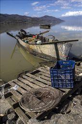 Fisherman's boat on the southeast coast of lake Kerkini: by valis, Views[182]