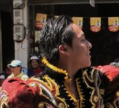 Lively guy dancing in Riobamba Carnival parade: by valpro, Views[157]