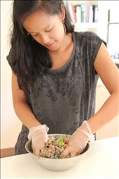 Getting a workout mixing the spring roll filling: by vannary, Views[129]