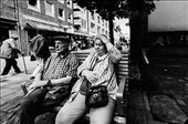 Pensioners sitting on the bench.: by vassilios_journal, Views[88]