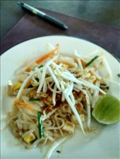 Pad thai - I made it! Guess what? Thai people never eat this and you will never find it on any menu here (except tourist restaurants and cooking schools catering to tourists!) I still find it quite tasty :): by veganliesa, Views[61]