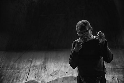 Nelson, 85, works under Alcântara Machado Bridge teaching the art of boxing.