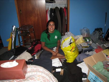 Sharan reaquainted with 'ALL MY STUFF!!!'