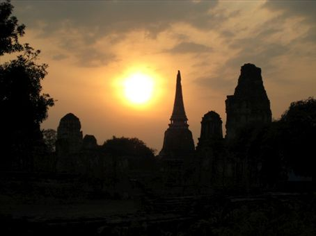 Sunset over Ayutthaya