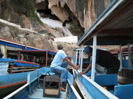 Landing at the Bhudda cave (one of many)