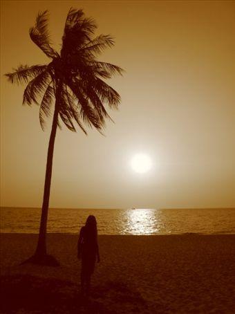 Sharan watching sunset on Phu Quoc
