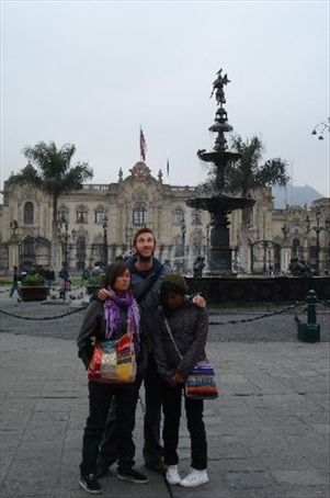 The main square in Lima