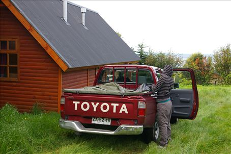 Our pickup and wonderful cabaña