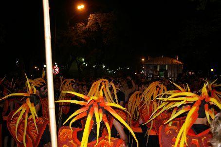 The samba band we danced behind during the whole parade