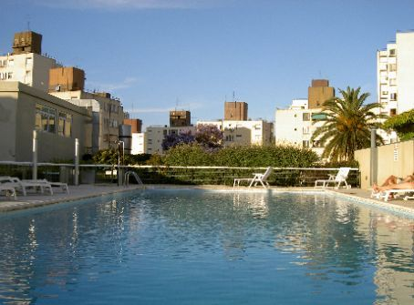 The pool on the terrace on Patricio's building... fat life
