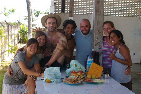 The whole gang: myself, Paula, her brother Alejandro, Lautaro, Damién, Nadja and Moni