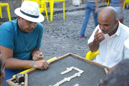 And you thought football was Brazil's greatest passion? You should watch them play dominoes