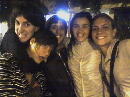 On our way to a night out: Maryse (our friend from France), me, Monica, Yeanina and Victoria (a good friend of the RYCEs)