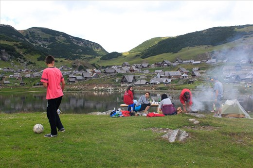 Families with kids, young couples, older people and hikers are bringing necessary equipment from home to make barbecue or just to play on the grass.