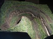 A model of the horse-shoe shaped gorge and the structure of caves from top.: by vinaygy, Views[163]