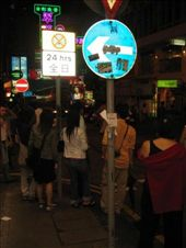 Waiting at the cross walk in Hong Kong party street: by vinh, Views[227]