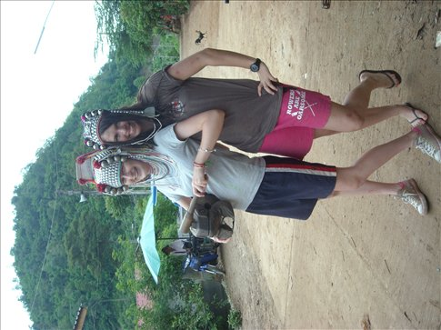getting cultural at a hill-tribe village