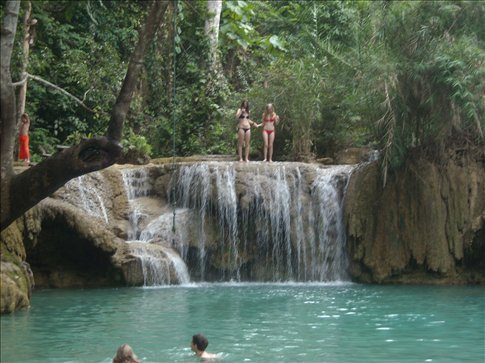 jumping off a very beautiful waterfall (we actually did jump, we promise)