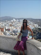 vivienne with fira (santorini's capital) behind: by vivienne_and_iona, Views[440]