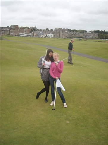 playing golf at st andrews (world's oldest putt putt course)