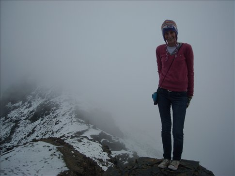on the glacier at chacaltaya