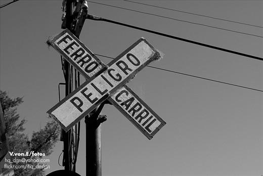 Crossroads. Danger. Train.