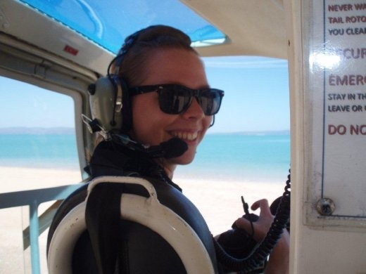 Love trying new things, however for the record I prefer my helicopters to have doors... I'm smiling in this photo because at this point I didn't know that I would be sitting in back very shortly where there were no doors and a seatbelt that only goes over your lap...