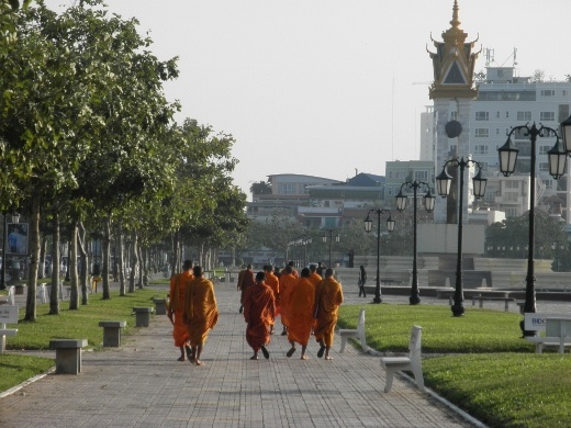 I loved seeing monks everywhere