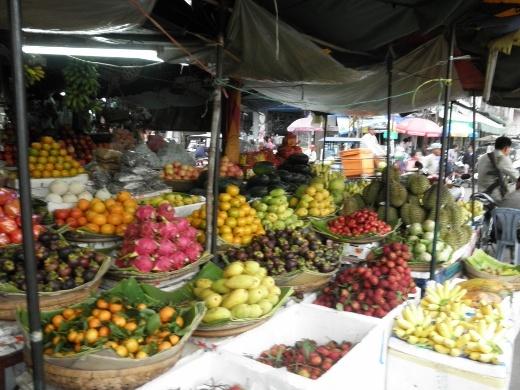 Wonderful fruit at the market