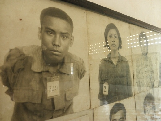 Some of the faces of the prisoners (innocent victims), all killed