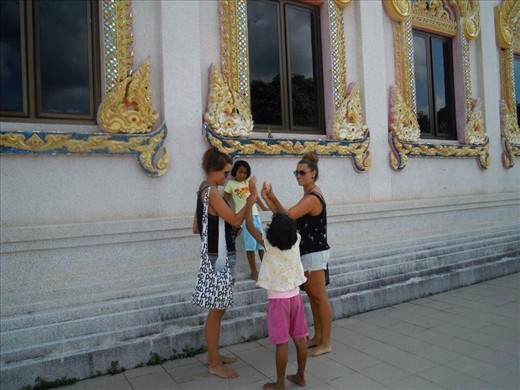 Playing with the locals, Koh Samui