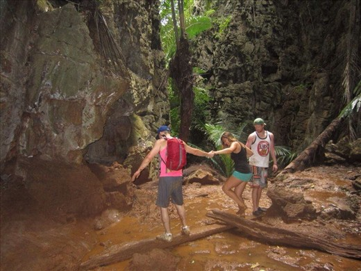 Trying to get to the Lagoon, Railay